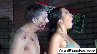 Asa Akira's Zombie Anal Creampie