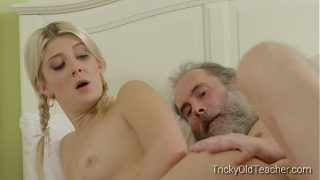 Tricky Old Teacher – Gabby does whatever it takes to get a head
