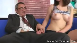 Tricky Old Teacher – Elena struggles for her grades in her teachers class